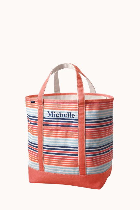 Lands' End Large Printed Open Top Tote