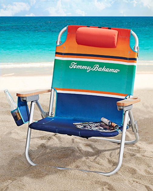 Multi-Stripe Deluxe Backpack Beach Chair - Tommy Bahama 2015
