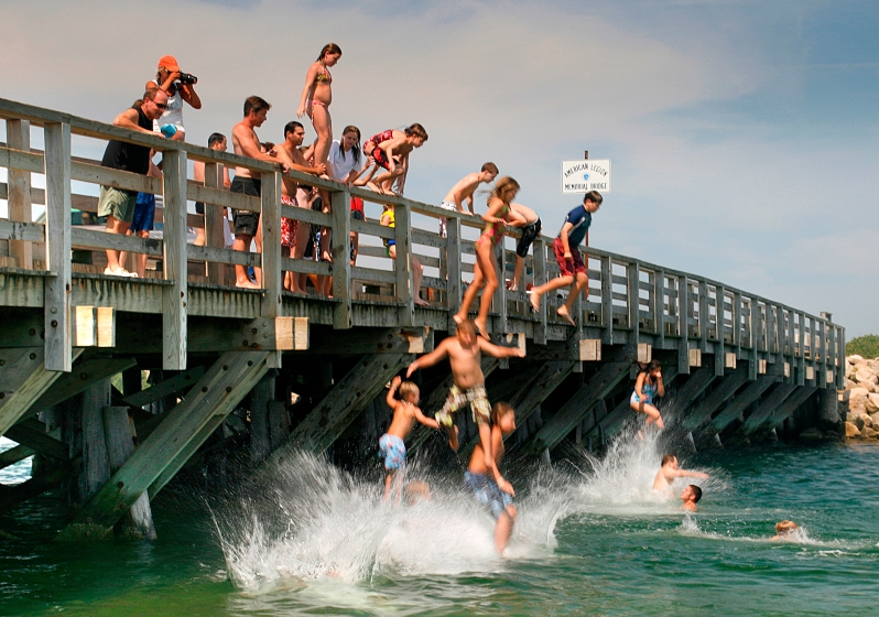 Jumping the JAWS Bridge, Oak Bluffs